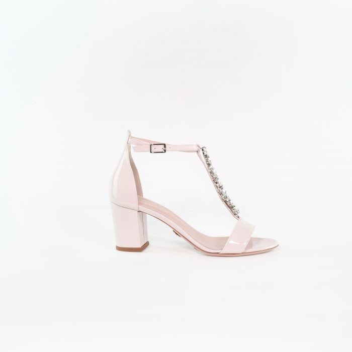 Abendschuh Celina in nude rose