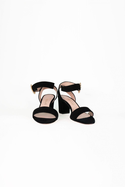 abendschuh schwarz ankle strap clara laure&lay
