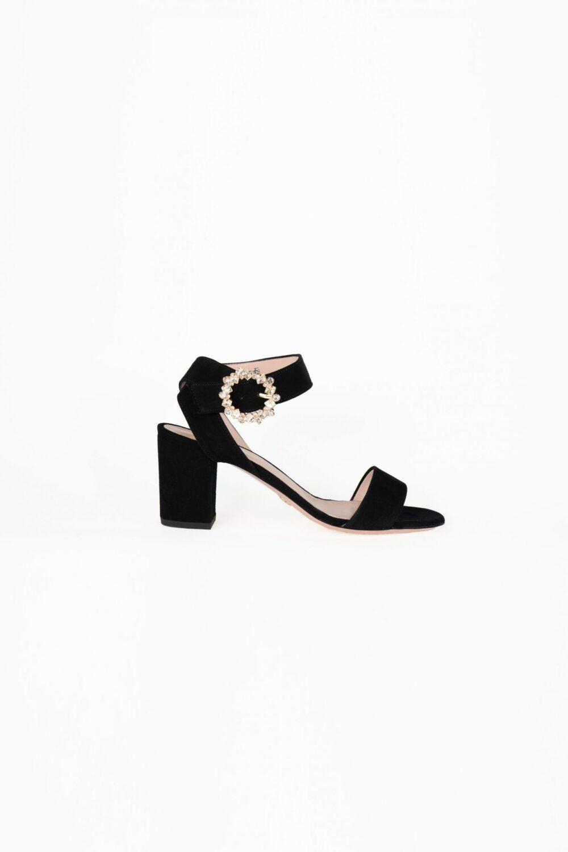 designer abendschuh schwarz blockabsatz clara laure&lay