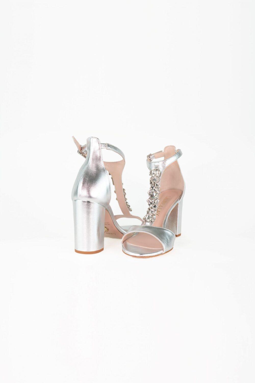 premium brautschuh sandale silber blockabsatz alina laure&lay