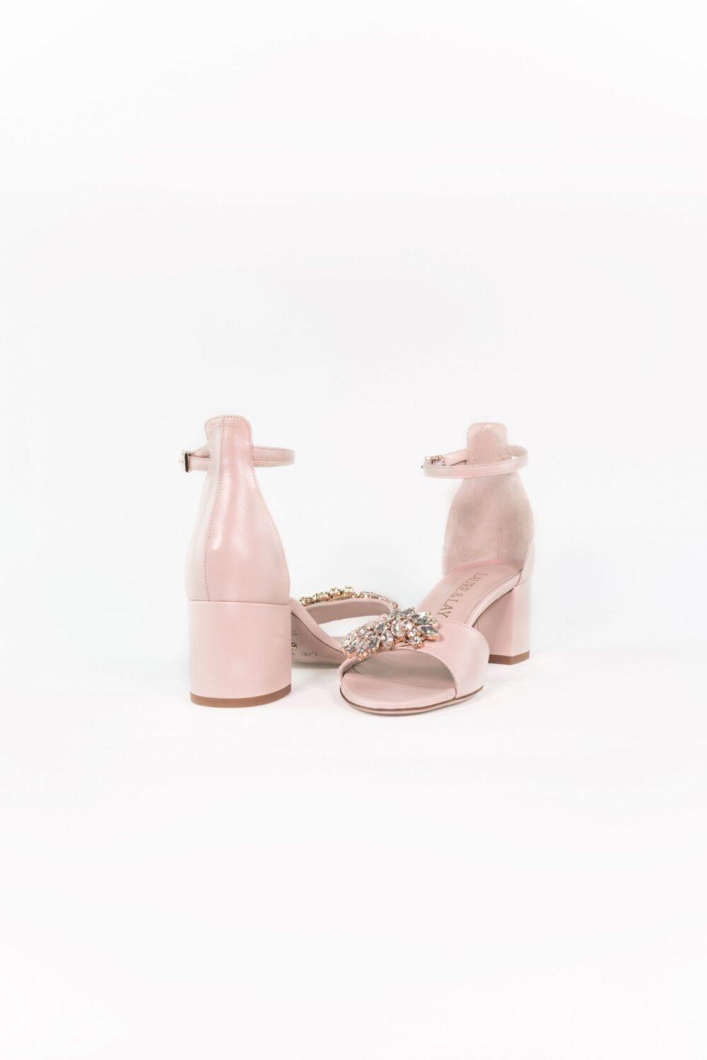designer hochzeitsschuh nude rose blockabsatz elena