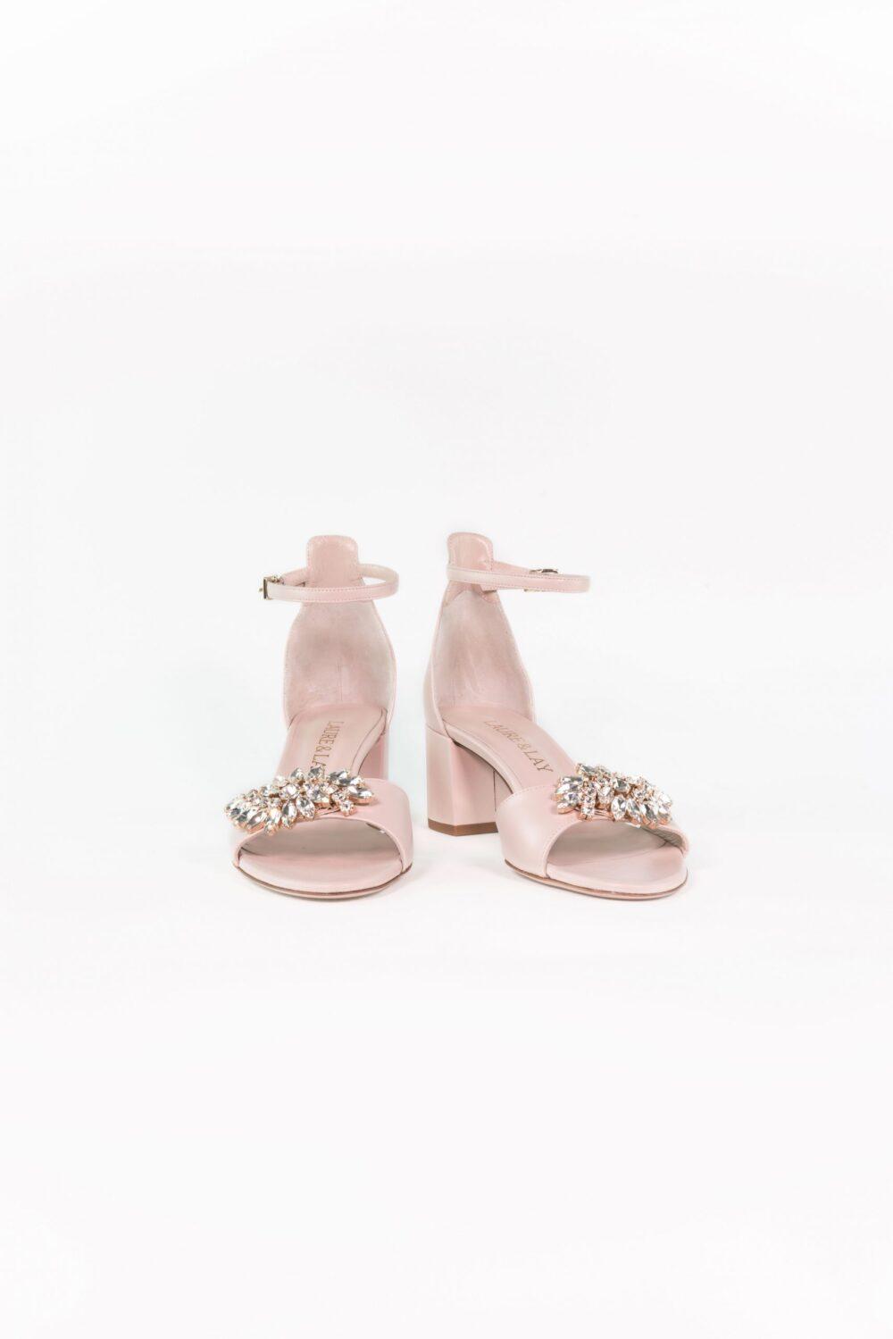 designer hochzeitsschuh nude rose ankle strap elena
