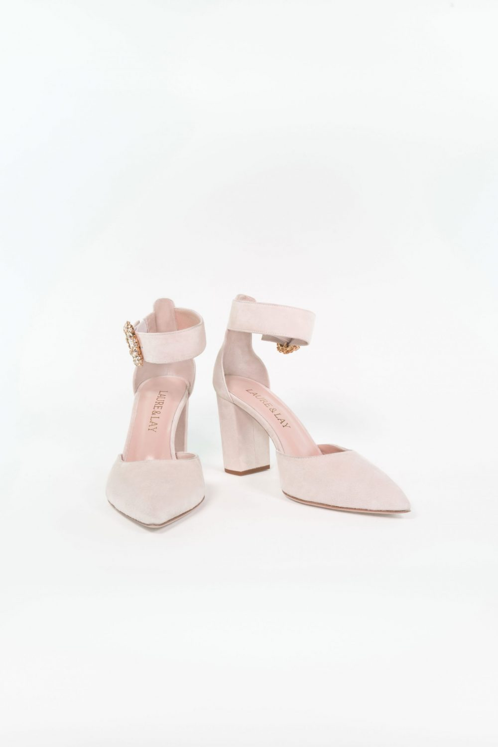 Brautschuh Noemi Light Rose mit Ankle Strap