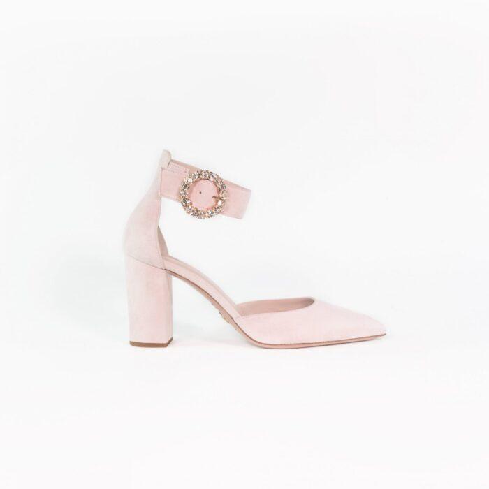 Designer Brautschuh Light rose Leder Noemi LAURE&LAY