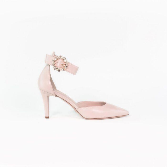 Leder Brautschuh nude rose Sophie LAURE&LAY