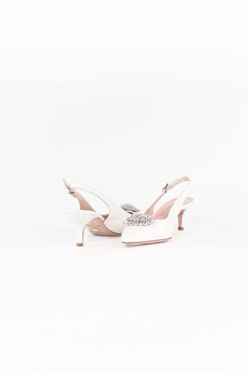 luxus brautschuh weiß absatz theresa