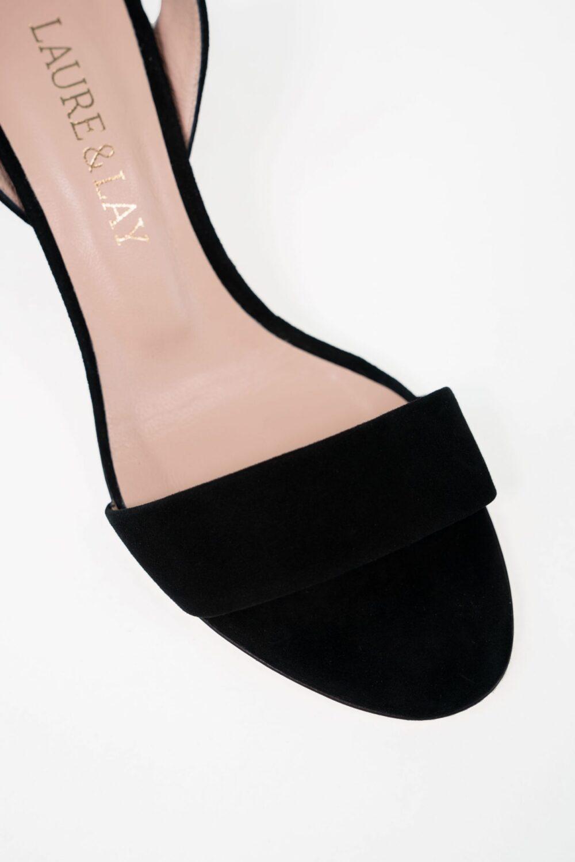 designer abenschuh clara schwarz aufsicht laure&lay