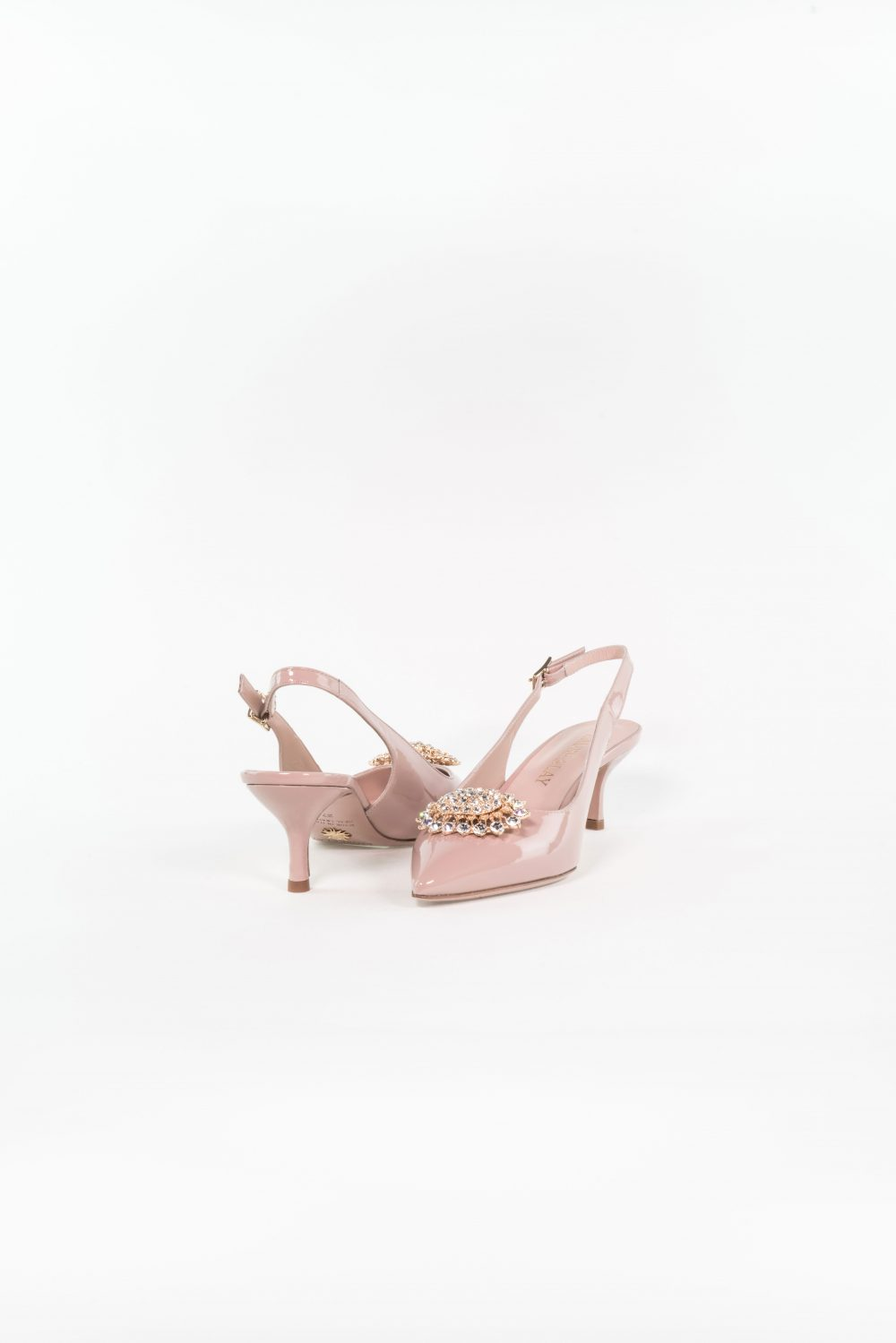 Cocktailschuh Theresa dusty rose mit Queeny Absatz