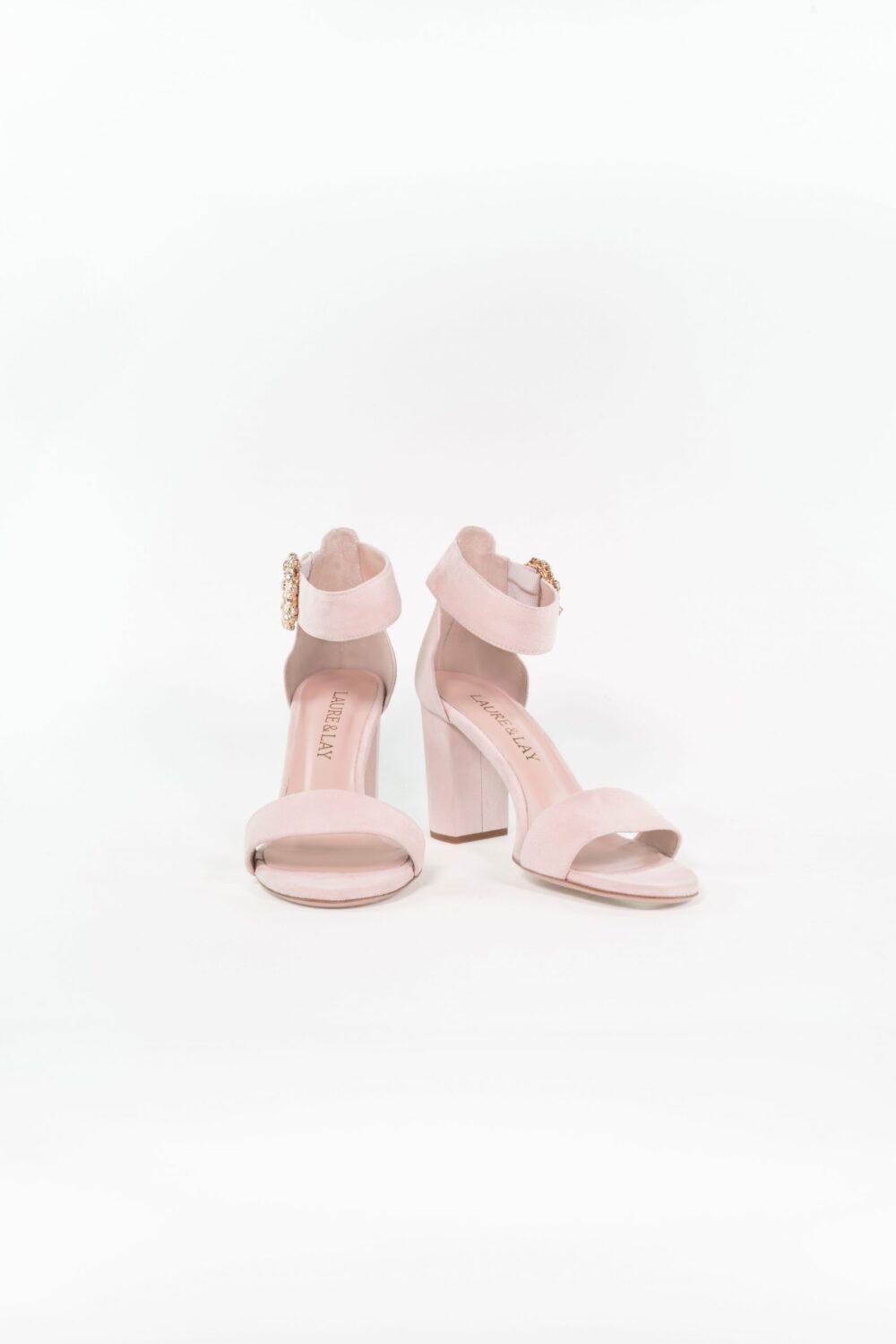 Hochzeitsschuh Sandale Anna Light rose modern elegant