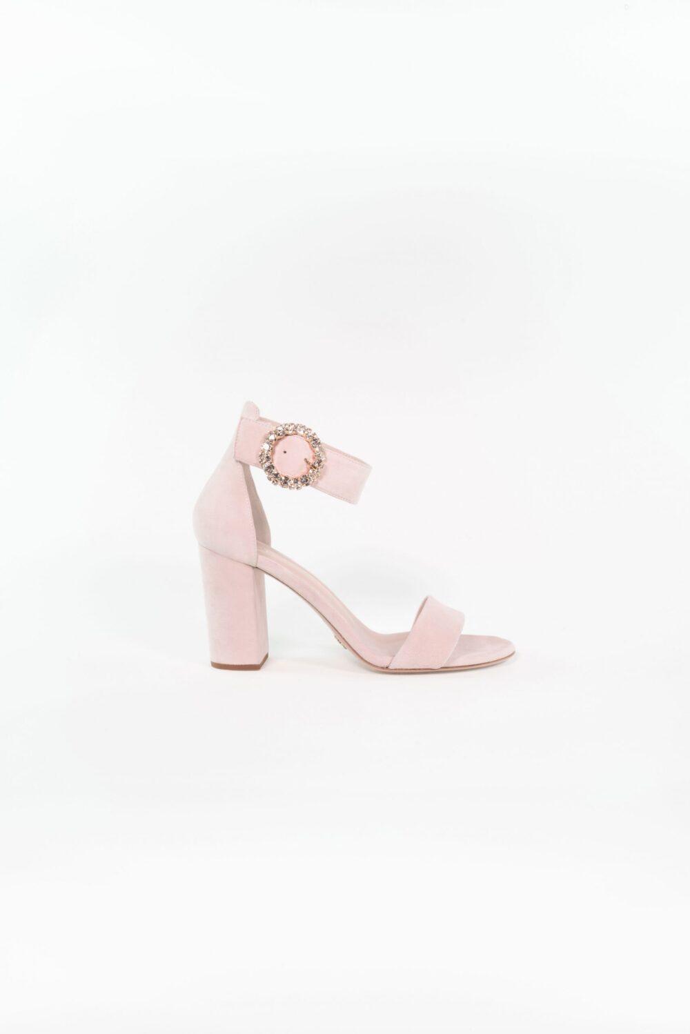 Designer Hochzeitsschuh Light rose Blockabsatz Anna
