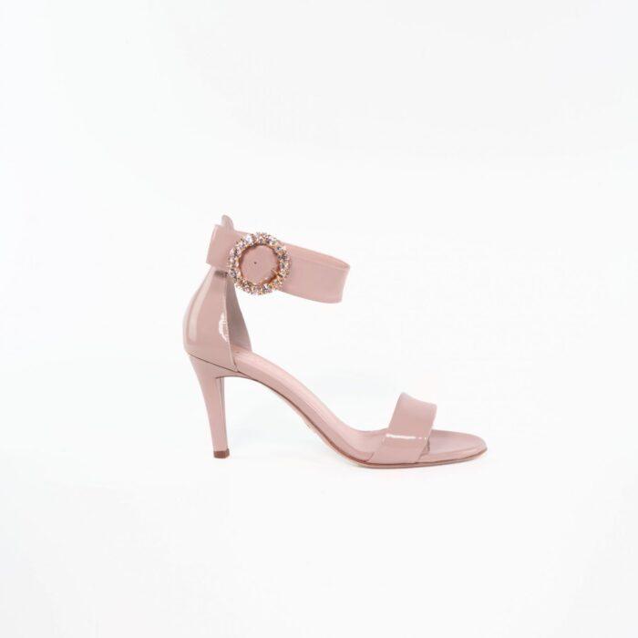 designer sandale dusty rose lackleder lilly